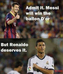 messi roni balloon dor